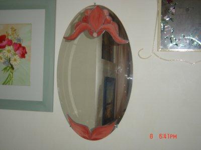 Miroir ovale blog de laprovencedesylvie for Faux vitrail sur miroir