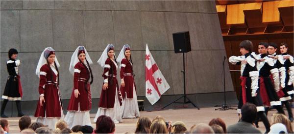 Georgisk dansgruppen Dapioni